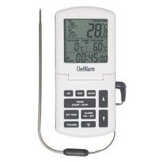 De ChefAlarm is een professionele thermometer met een instelbare timer.  Temperatuurmeting binnen vijf seconden met de naald sonde. Inclusief backlight & ijkfunctie  Ontworpen voor commerciële keuken