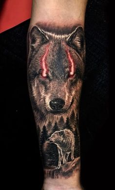 Tribal Wolf Tattoo, Wolf Tattoo Design, Wolf Tattoos, Tatoos, Tattoo Designs, Skull Sleeve Tattoos, Body Art Tattoos, Hannya Mask Tattoo, Handpoked Tattoo