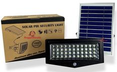 High Power 1000 Lumen Solar Motion LED Flood Light – 10 watts of High Power Light – Commercial Grade Flood Light – Adjustable Mount – Solar LED Floodlight – Rechargeable Battery - 4 Modes Solar Flood Lights, Outdoor Flood Lights, Outdoor Light Fixtures, Outdoor Lighting, Lighting Ideas, High Bay Led Lighting, Solar Panel Cost, Solar Led, Light Sensor