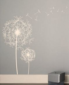 Huge life size dandelions would be cute wall art for a nursery.. could work for boys and girls!!