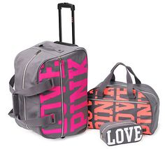 Victoria's Secret PINK luggage set | Pink❤ | Pinterest | Pink ...