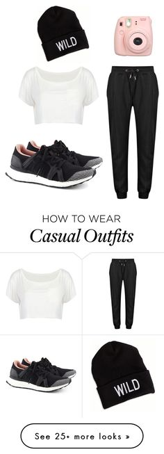 """""""Casual"""" by allyse-sympson on Polyvore featuring adidas, Fujifilm and American Eagle Outfitters"""