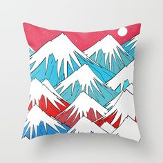 Check out society6curated.com for more! @society6 #illustration #home #decor #homedecor #interior #design #interiordesign #buy #shop #shopping #sale #apartment #apartmentgoals #sophomore #year #house #fun #cool #unique #gift #giftidea #idea #pillows #drawing #white #red #blue #pink #mountains