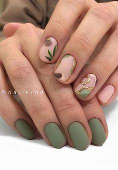 Matte Green Nails, Green Nail Art, Purple Nails, Matte Nails, Chic Nails, Stylish Nails, Classy Nails, Green Nail Designs, Nail Art Designs