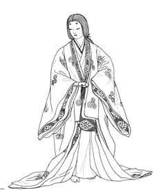 fashion coloring pages | Start -> coloring page of history -> coloring page of japanese ...