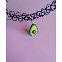 Avocado Necklace Avocado Tattoo Choker Miniature Food jewelry ($13) ❤ liked on Polyvore featuring jewelry, necklaces, mini necklace, tattoo choker necklace, grunge jewelry, tattoo necklace and tattoo jewelry