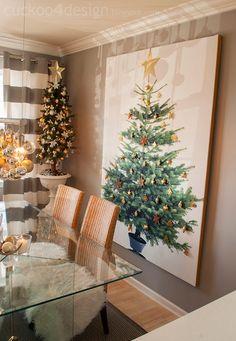 Cuckoo 4 Design: Blogger Stylin Christmas Home Tour - I love this tree!  what a fun idea!