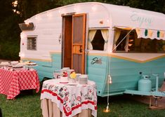"""I think you should just have the """"Hey Cupcake"""" airstream trailer out at your wedding!"""