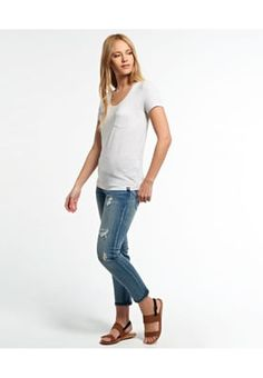 Superdry T-shirt basic - ice marl - Zalando.be