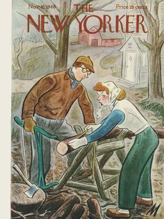 The New Yorker - Saturday, November 16, 1946 - Issue # 1135 - Vol. 22 - N° 40 - Cover by : Julian de Miskey