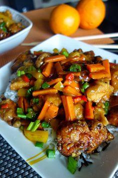 Chiński kurczak pomarańczowy Asian Recipes, Healthy Recipes, Ethnic Recipes, Rice Dishes, Dinner Recipes, Food And Drink, Favorite Recipes, Yummy Food, Lunch