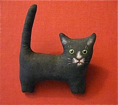 big Black cat brooch- doubles as Christmas ornament- black and white- tuxedo cat- cat pin- kitty pin- stocking stuffer by sandymastroni on Etsy, $20.00
