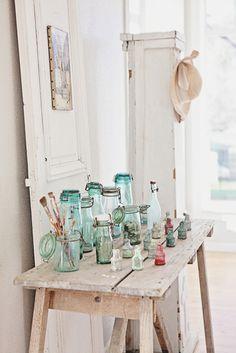Vintage French Bottles and Jars