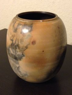 "KLP-7.75"" Micaceous Pit Fired Rock Pottery Material Art"