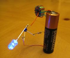 Yes, it's the infamous Joule Thief, in Instructable form! For those of you who don't know, the Joule Thief is a tiny little circuit that allows you to dri...