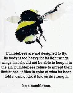 Motivational Quotes : QUOTATION – Image : Quotes Of the day – Description 24 Wonderful Inspirational Quotes Sharing is Caring – Don't forget to share this quote ! Bee Quotes, Quotes Quotes, Qoutes, Quotable Quotes, I Love Bees, Heavy And Light, Motivational Quotes, Inspirational Quotes, Bee Art