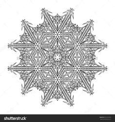 Black And White Hexagonal Ethnic Pattern. Tribal Zen Tangle. Adult Coloring Book. Mandala Ornament Ilustración vectorial en stock 502924993 : Shutterstock