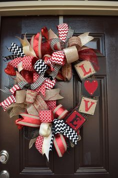 A personal favorite from my Etsy shop https://www.etsy.com/listing/263384182/valentines-day-wreath-funky-bow-wreath