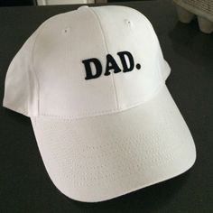 NWT Dad. Hat New with tags Dad. Hat. Black letters white base ball cap. As seen on Kylie Jenner ! Other