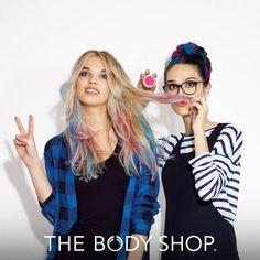Esta privamera colorea tu cabello con las tizas de colores de Body Shop #hairstyle #cabello