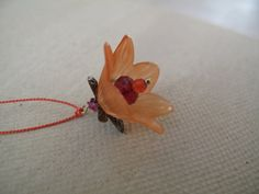 Where have all the flowers gone ..Tangerine by myheartscontent, $18.00
