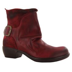 Womens Fly London Mel Red Leather Boots P141633006 #FlyLondon #Boots