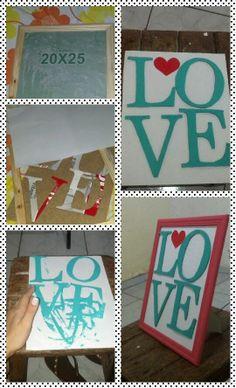 letras em papelão