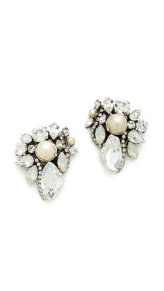 White Wedding Crystal Earrings