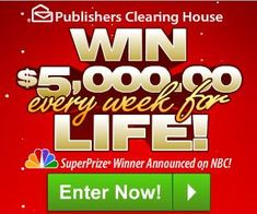 Publishers Clearing House Win $5000 Every Week For Life