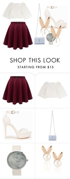 """""""Simple cute style"""" by prastikaparamhita on Polyvore featuring Philosophy di Lorenzo Serafini, Nly Shoes, Yves Saint Laurent and Aamaya by priyanka"""