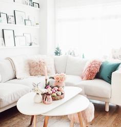 Bright colourful living room.
