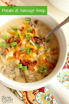 Potato & Sausage Soup - Diary of A Recipe Collector