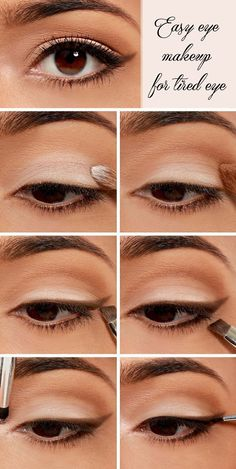 Wow girls now you can really get rid of tired eye after long working day by following this easy eye makeup steps