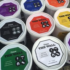 Dope Wall paints are now in stock. 1 litre will cover up to 12 metres squared. Prices start at just Graff City, Graffiti Supplies, Art Studios, Interior And Exterior, Cover, Wall, Painting, Painting Art, Walls