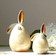 Wedding decoration European style white white rabbit ceramic piggy bank money box a pair of lovers wedding gifts_1