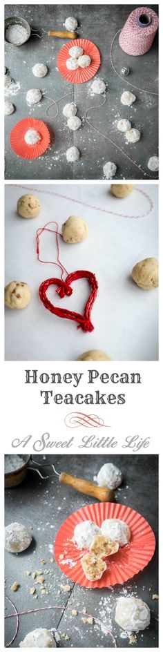 On the 7th Day of Christmas I give to you Honey Pecan Teacakes. A buttery bite of a cookie infused with honey and the richness of pecans.