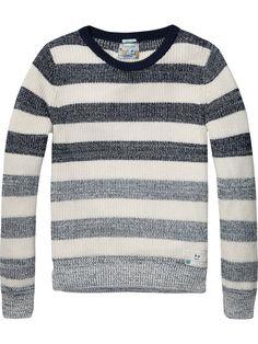 Striped crew neck pullover | Pullover | Men Clothing at Scotch & Soda