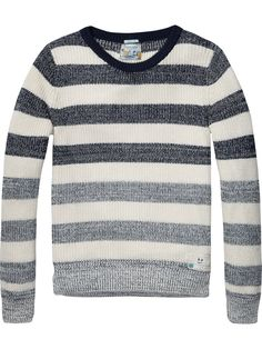 Striped crew neck pullover | Pullover | Men Clothing at Scotch & Soda