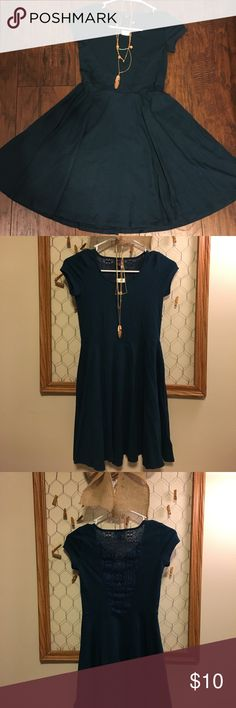 Teal Aeropostale Dress with Lace Back XS Teal fit and flare dress from Aeropostale XS. NWT! Aeropostale Dresses