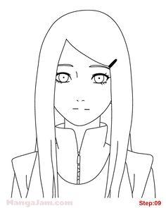 Naruto Sketch Drawing, Kakashi Drawing, Anime Drawings Sketches, Naruto Drawings, Dark Art Drawings, Naruto Art, Cool Sketches, Anime Naruto, Easy Drawings