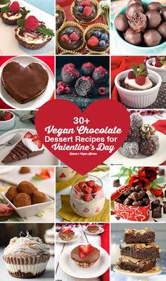 30+ Vegan Chocolate Dessert Recipes for Valentine's Day