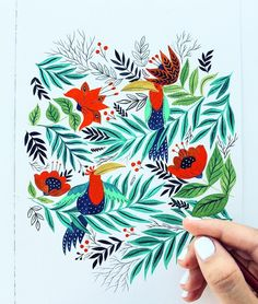 @pinardupre painting displays great contrast of colors #coloring #contrast #art