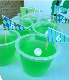 Golf Girl's Diary, National Jello Week! Golfer Jello Shots!