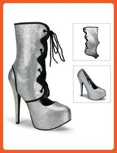 Bordello Silver Glitter High Heel Pump - 11 - Pumps for women (*Amazon Partner-Link)