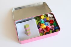 A LEGO patterns busy box for play on the go.