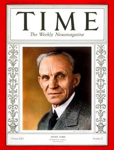 TIME Magazine Cover: Henry Ford - Jan. 14, 1935 - Henry Ford - Cars - Automotive Industry - Transportation - Business - Ford Motor Co.