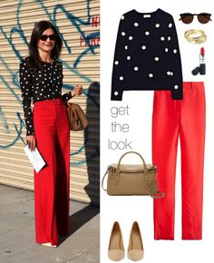 Red - Crazy for...  Black polka dots - LOVE...  Together - Swoon!