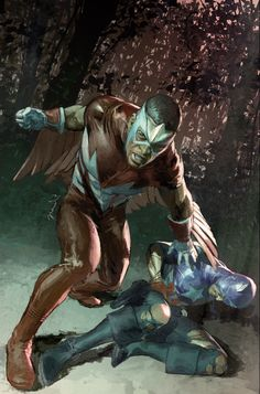 Captain America and Falcon by Gerald Parel *