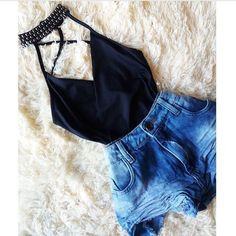 Short Outfits, Sexy Outfits, Pretty Outfits, Cool Outfits, Summer Outfits, Casual Outfits, Fashion Outfits, Teen Fashion, Womens Fashion