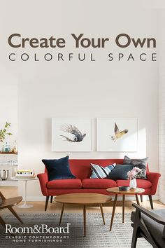 Add a pop of color to your living room. From subtle to dramatic, find upholstery and accessories in a range of colors to perfectly express your style. Check out our inspiration gallery for more colorful ideas.